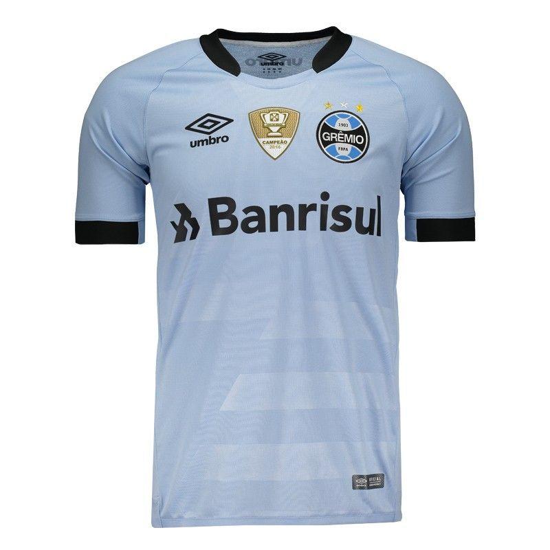 6be428bd8c Camisa Umbro Grêmio II 2017 com Patch Somente na FutFanatics você compra  agora Camisa Umbro Grêmio II 2017 com Patch por apenas R  269.90. Grêmio.