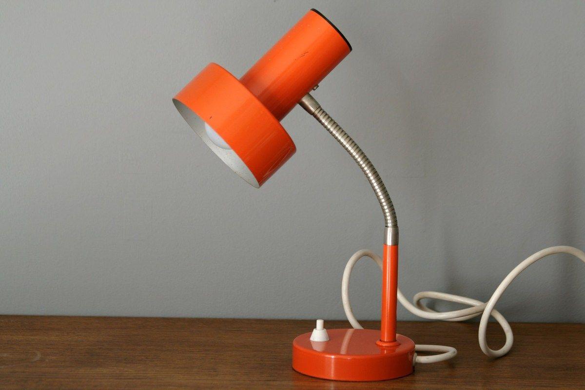 lampe m tal orange ann es 70 vintage deco chambre eden pinterest lampe metal ann es 70. Black Bedroom Furniture Sets. Home Design Ideas