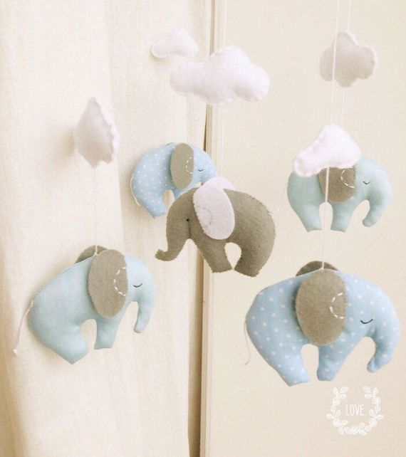 Baby mobilenursery decorbaby gift elephant mobilecot mobile baby mobilenursery decorbaby gift elephant mobilecot mobileblue negle Image collections