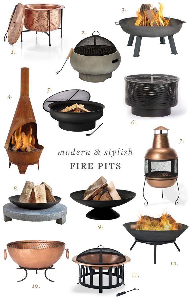 15+ moderne Feuerstellen, um Ihre Hinterhof-Oase zu vervollständigen   Jojotastic