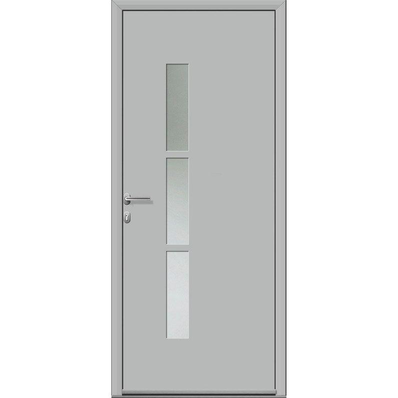 Porte D Entrée Alu Vitrée Gris Mat Essentiel Kezia2 Pous