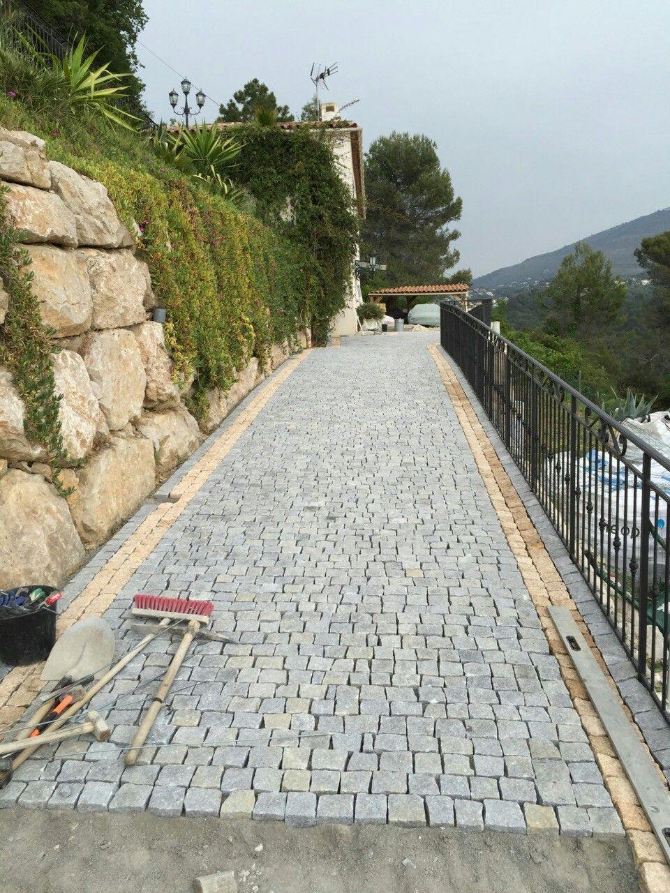 Pave Granit Clive Jaune Et Gris 10x10x5 Comercial Direto Paves Exterieur Dallage Exterieur Amenagement Jardin