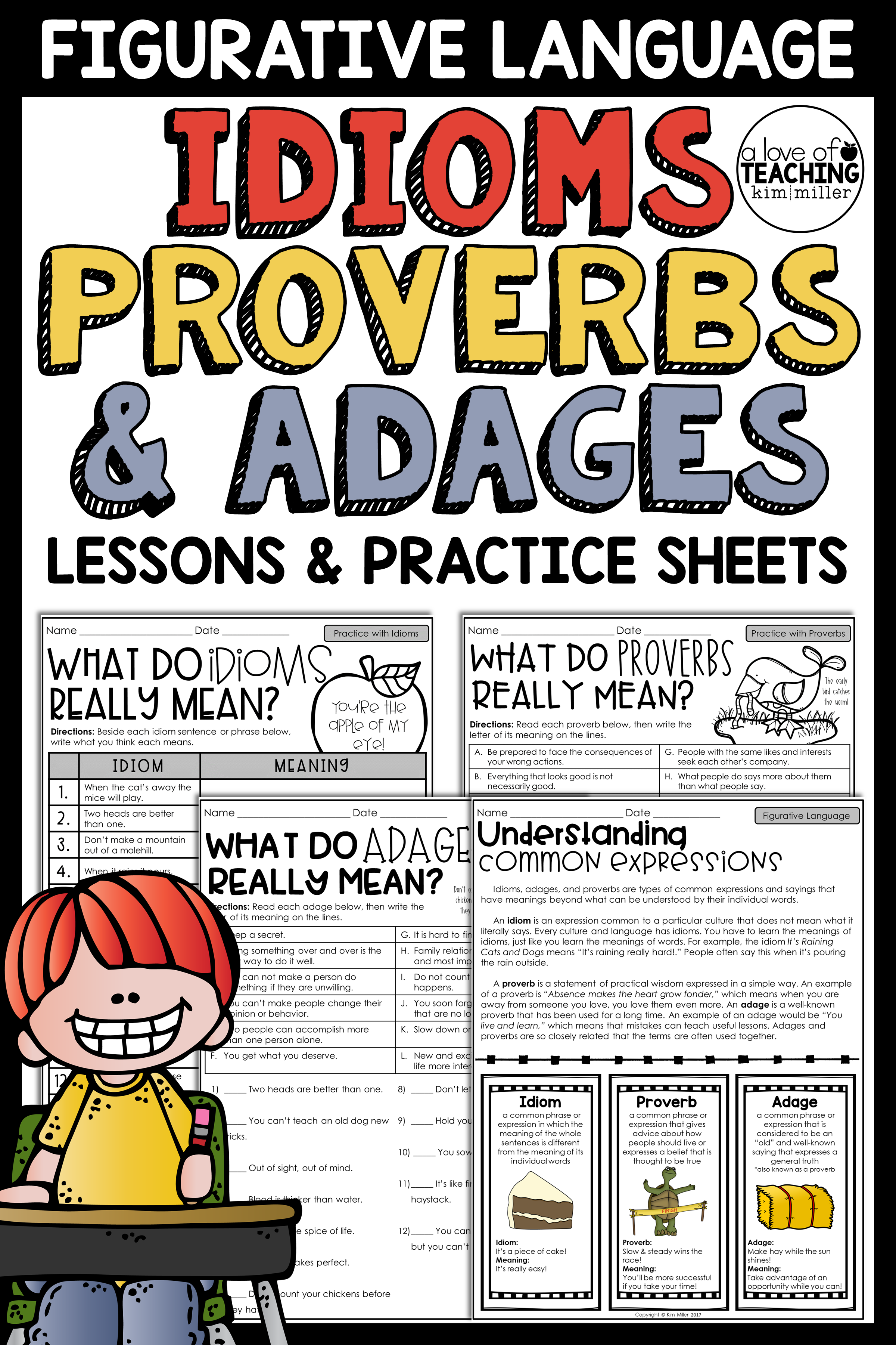 Idioms Proverbs And Adages Practice Worksheets