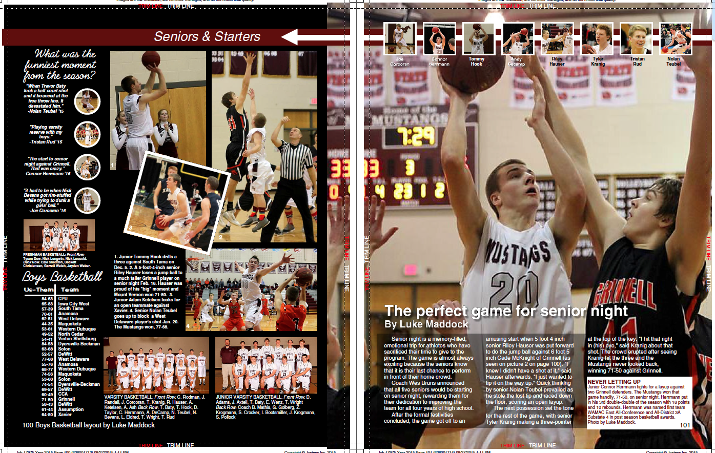 Basketball Yearbook Page Layout Ideas - Year of Clean Water