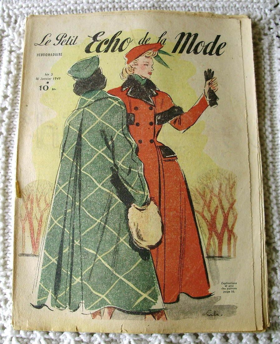 Vintage 1940's French Fashion Magazine - Winter Fashion