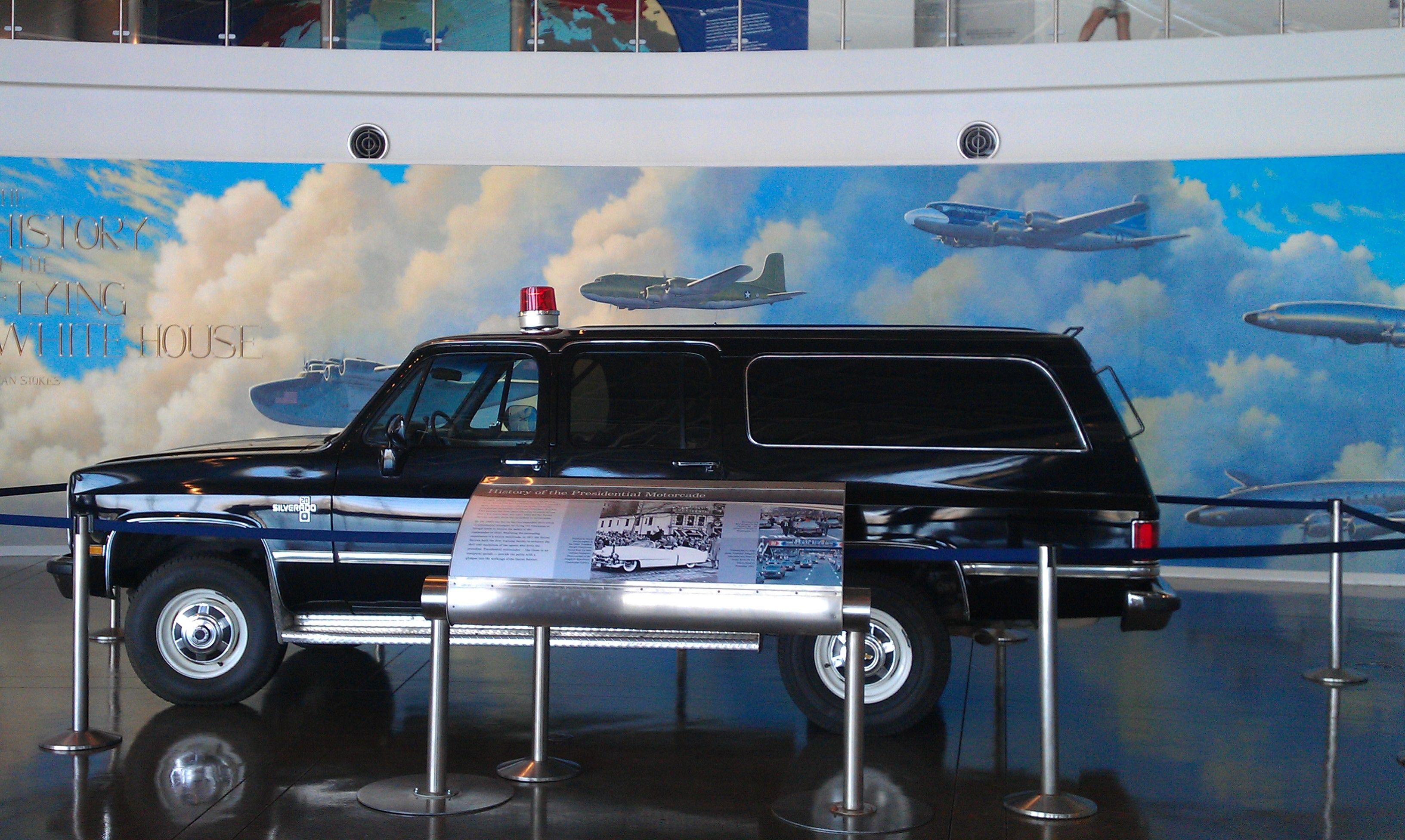 President Reagan era Secret Service SUV Secret service