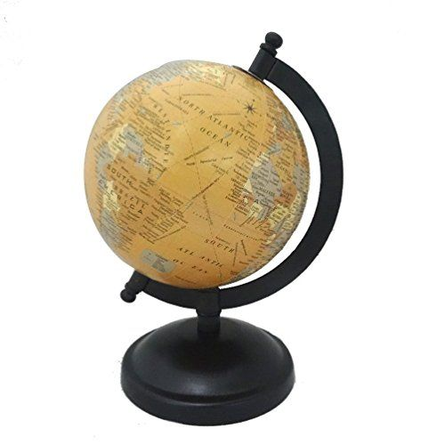 Handmade decorative home dcor vintage style globes table top handmade decorative home dcor vintage style globes table top antique globe beige 5 plastic ball gumiabroncs Images