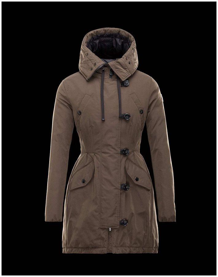 Moncler Damen Mantel Arrious Militärgrün, Moncler outlet