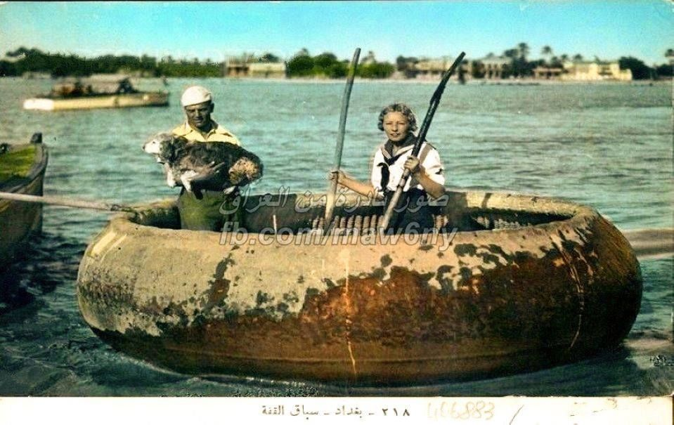 Mosul Iraq Tigris River   Tigris river, Baghdad. Year is unknown but the card is printed in 1955