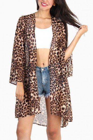 Leopard Kimono Cardigan | Www.OMGLeggings.com | Pinterest ...