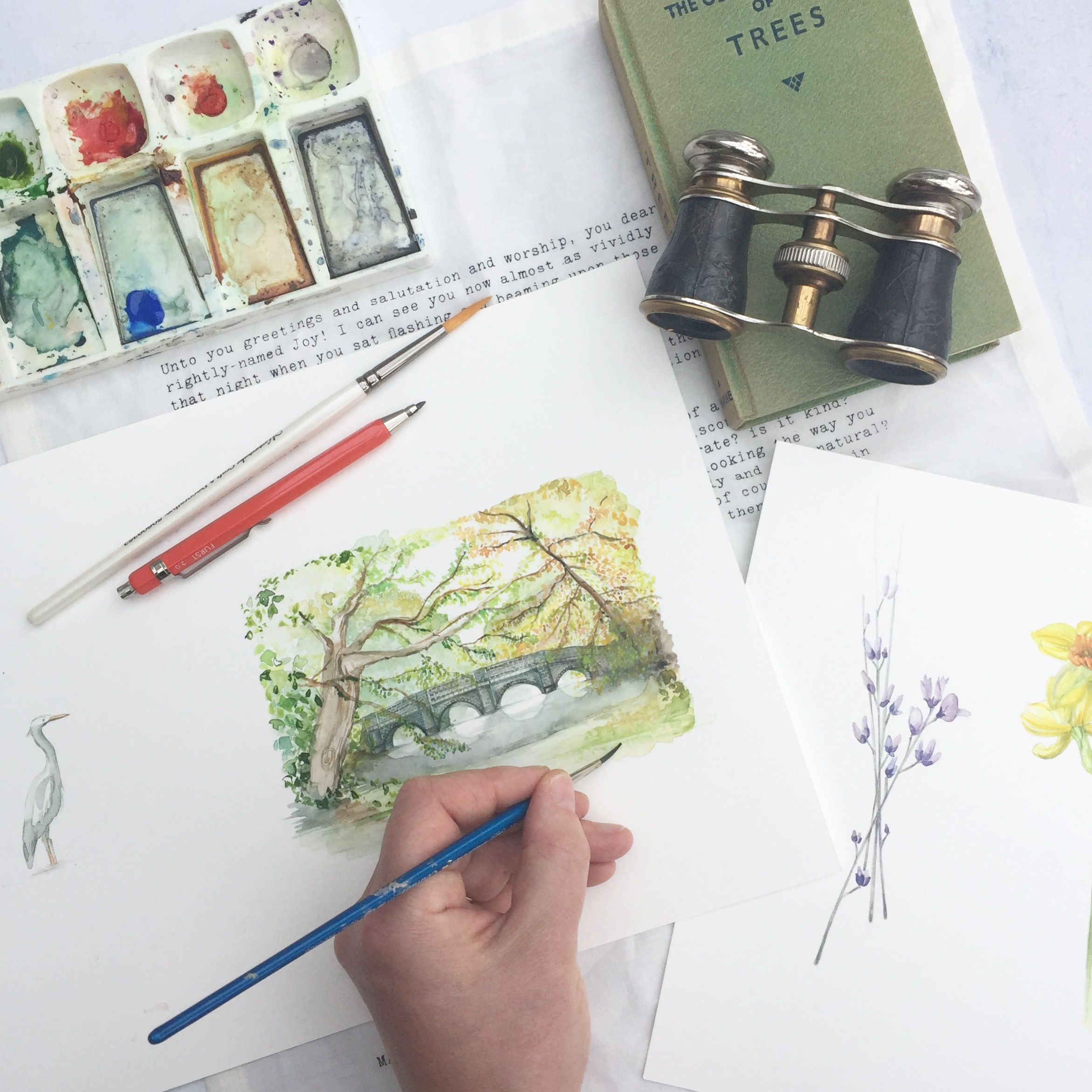 Hand Painted Watercolour Venue Illustrations Wedding Trends 2018