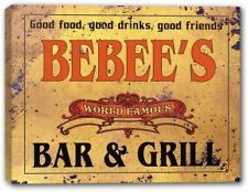 BEBEE'S World Famous Bar & Grill Stretched Canvas Sign
