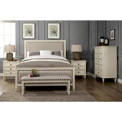 Luxeo Cambridge 5 Piece Queen Bedroom Set With Solid Wood And