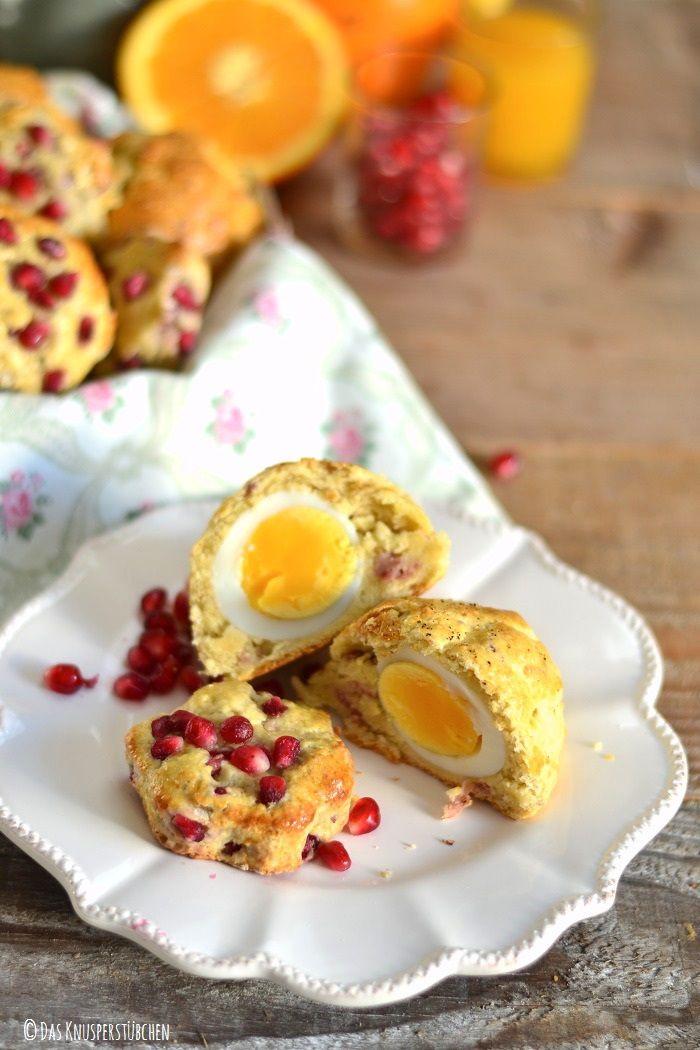 Bacon & Ei Scones oder Granatapfel-Orangen Scones mit Joghurt | Das Knusperstübchen