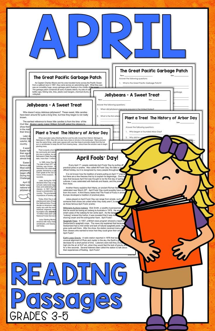 Reading Comprehension Passages and Questions Earth Day Reading
