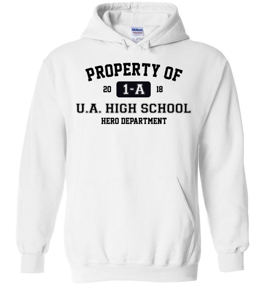 6050921c7847 Property Of 1-A U.A. High School My Hero Academia Hoodie Men Women Unisex   fashion  clothing  shoes  accessories  mensclothing  activewear (ebay link)