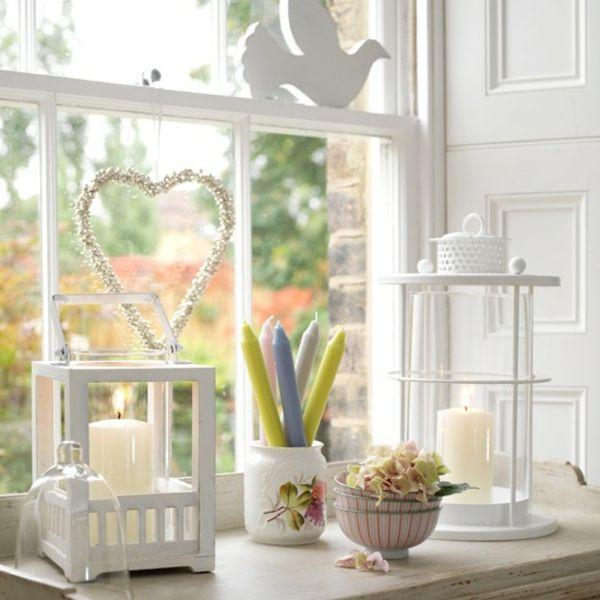 laternen herz einrichtung wohnzimmer ostern dekoration projekte wohnen white colors