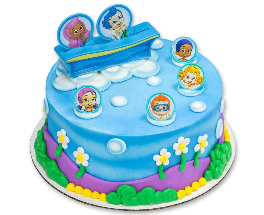 Bubble Guppies Gil Molly Gang DecoSet Cake Topper Madelines