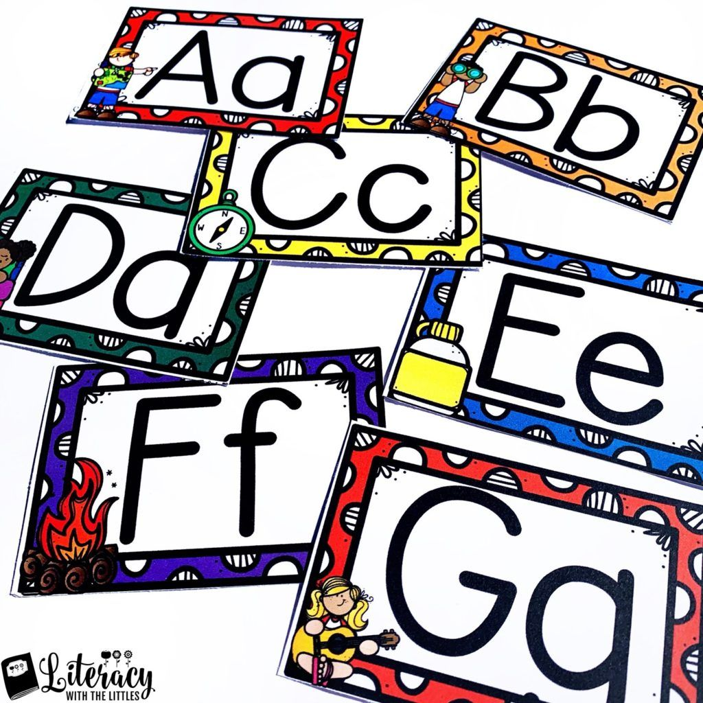 Free Camping Alphabet Posters