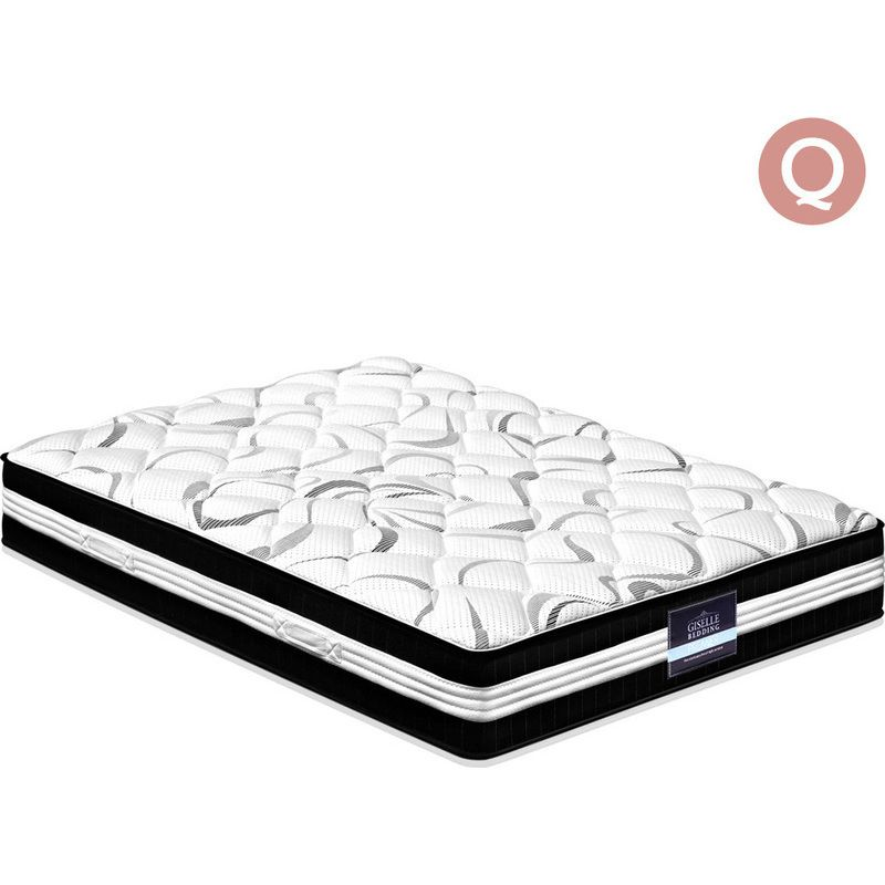 Giselle Bedding Mattress Queen Size Bed Euro Top Pocket Spring