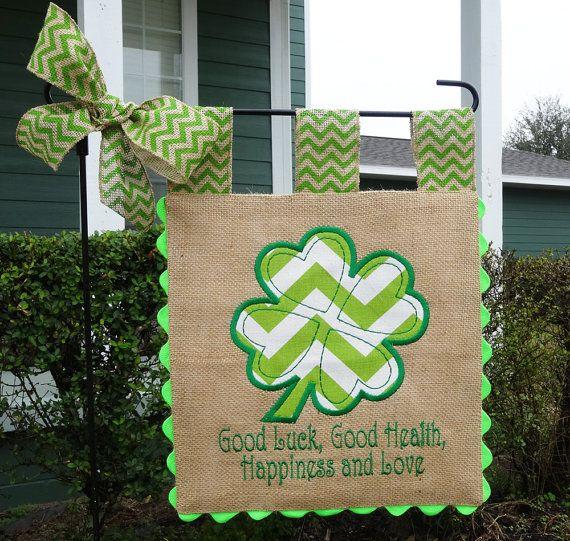 Burlap Garden Flag - Custom St Patricks - Irish Blessing ...
