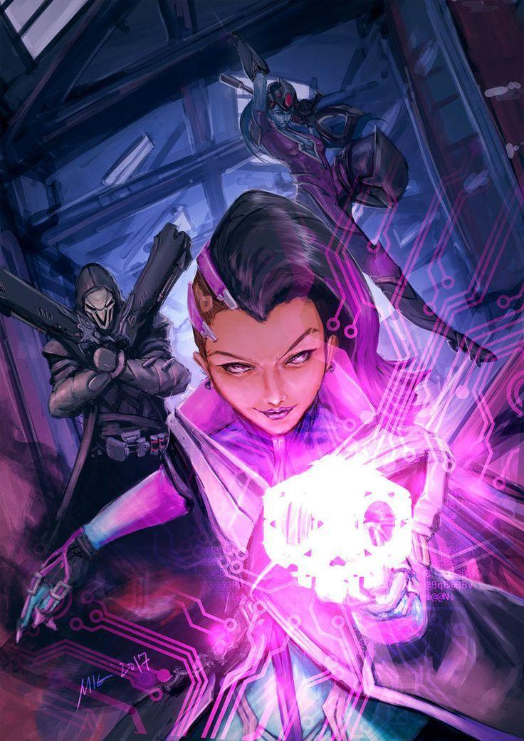 Sombra Reaper And Widowmaker Sombra Pinterest Overwatch