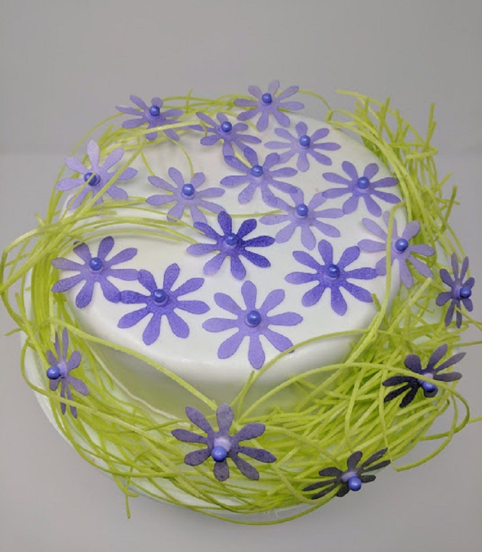 Edible rice paper daisy flowers for cake decoration 20