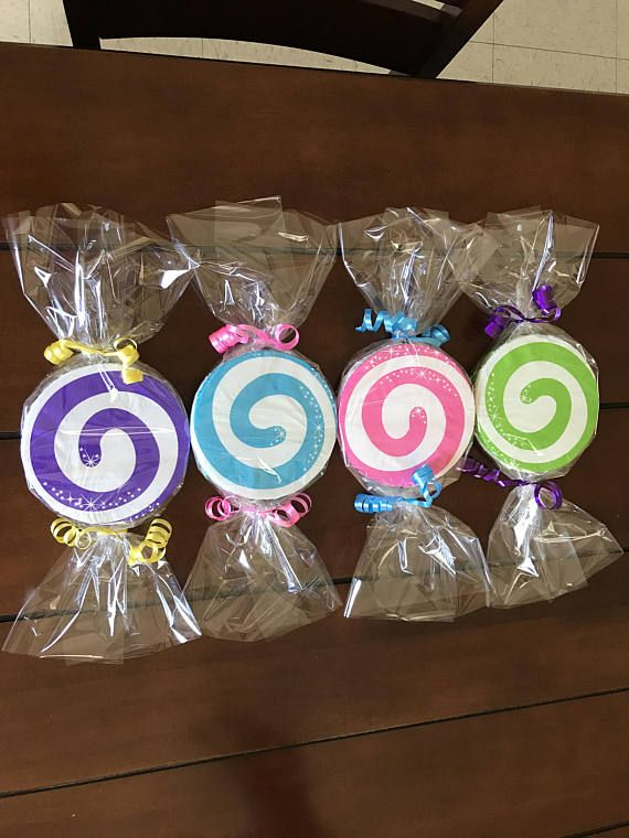 Candy Birthday Party Decorations (Set of 4) double sided #candylanddecorations