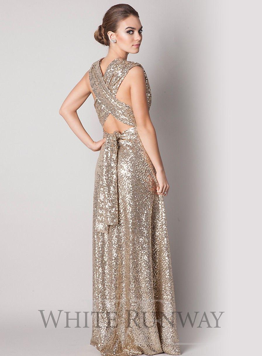 The dress goddess - Goddess By Nature Sequin Multi Way Dress