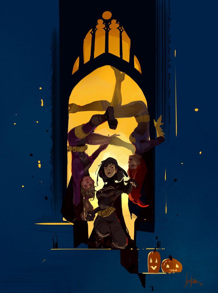 Jen_Zee_Concept_Art_Ilustration_Bat_Girls_01.jpg (835×1123)