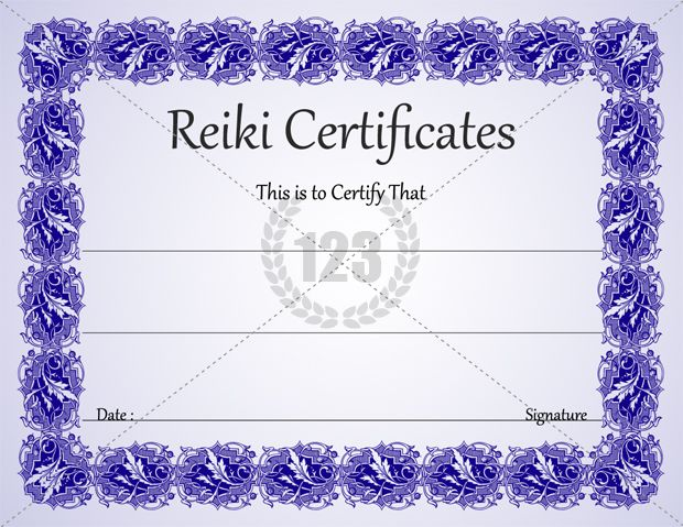 Most Healing Reiki certificates for Download -123Certificate ...