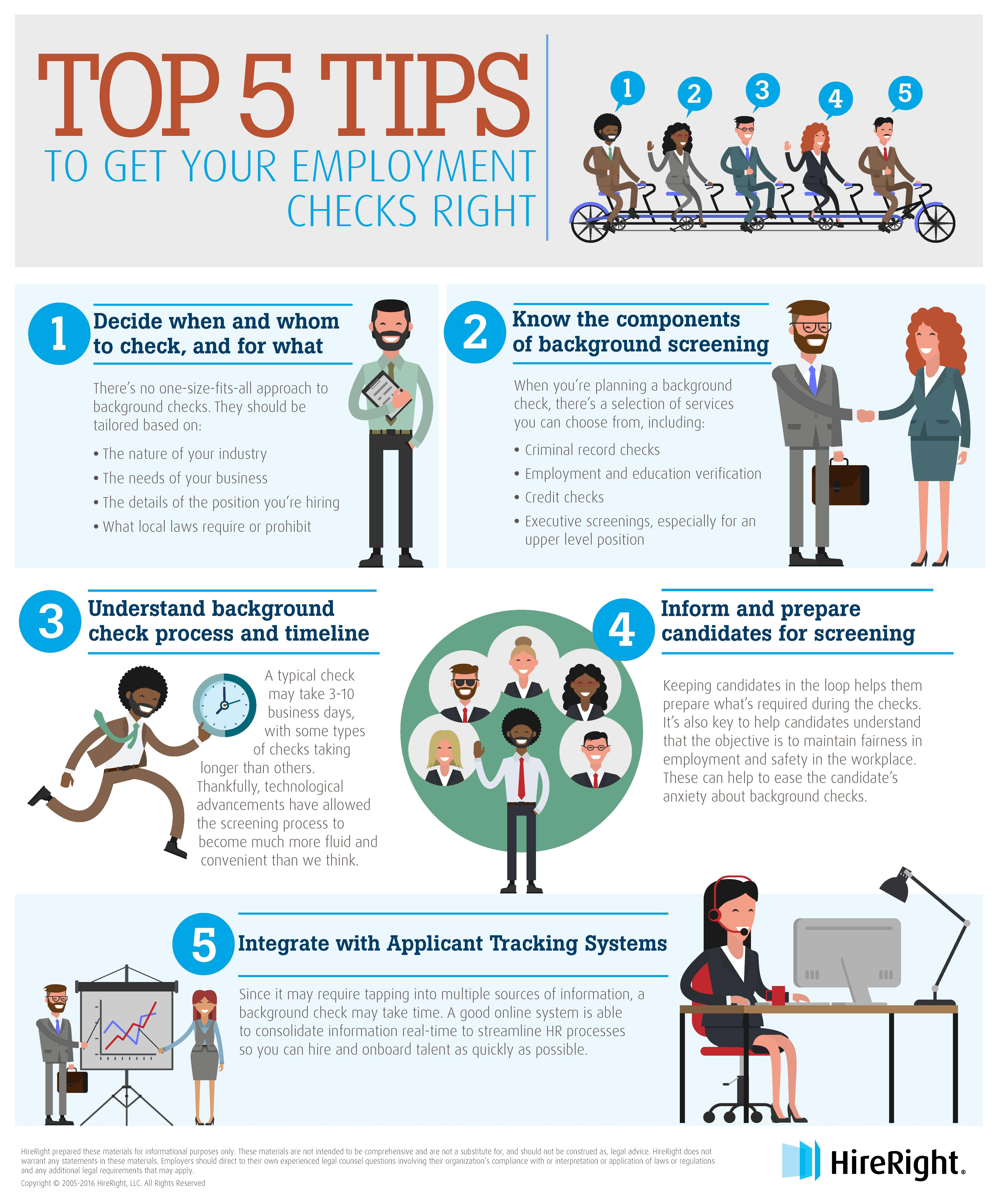 Top 5 Tips To Get Your Employment Background Checks Right Infographic Hiring A Great Job Candidate Is Employment Background Check How To Get Background Check