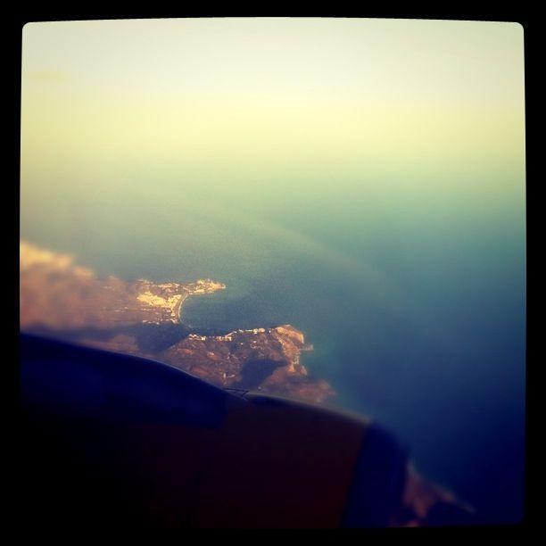 La Herradura (Andalucía), vista desde un avión