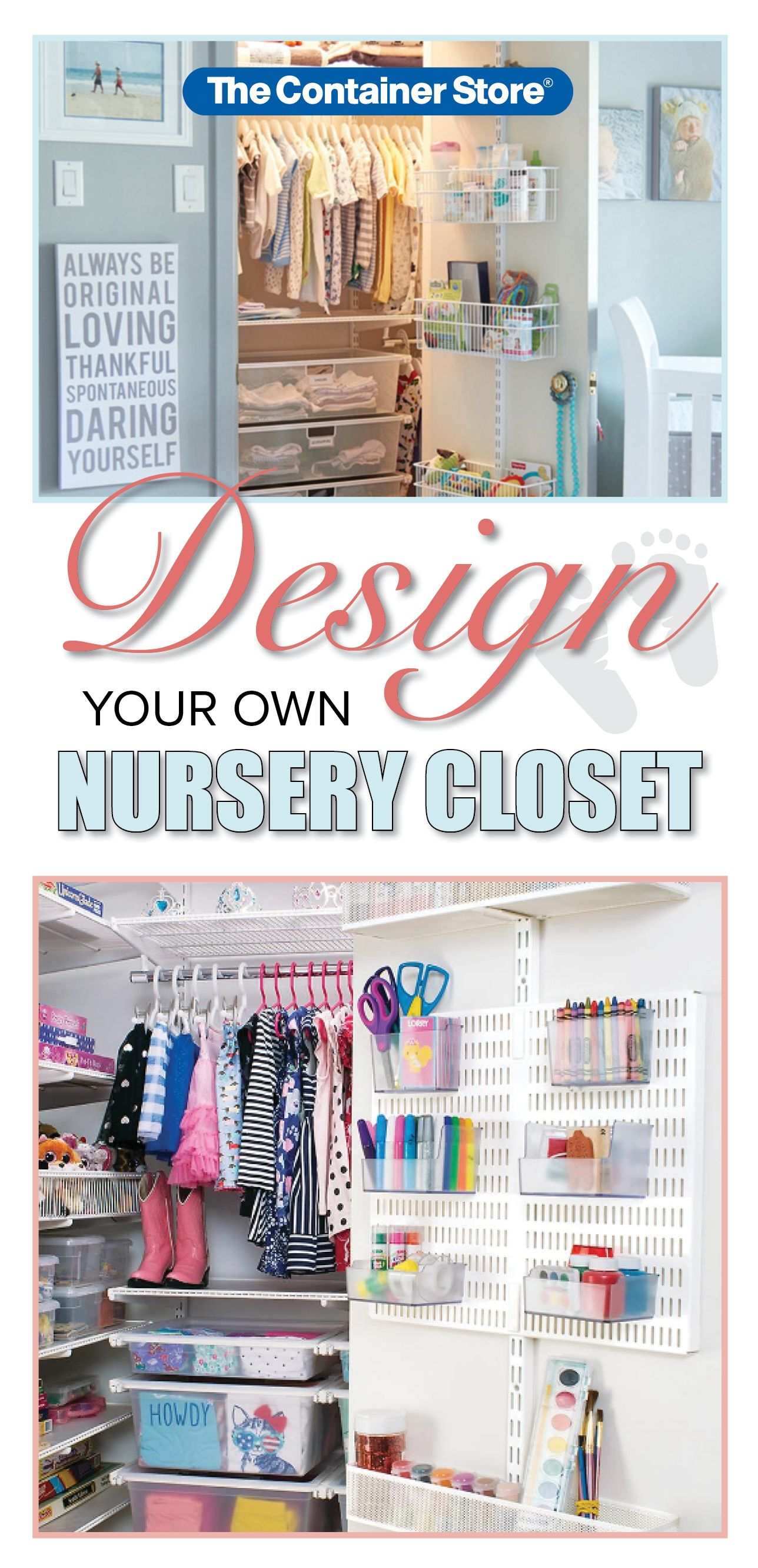 Nursery Closet Systems Like Elfa Can Give Structure And Organization To Your Entire