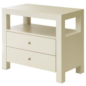 Nolita nightstand Furniture Guild Linen wrapped