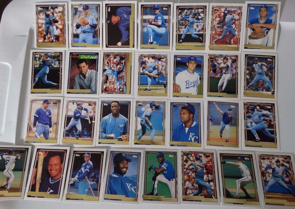 1992 topps gold kansas city royals team set of 29 baseball