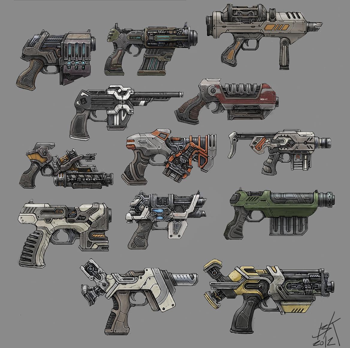 Blaisoid - Sci-fi gun concepts - More of Blaisoid concepts ...