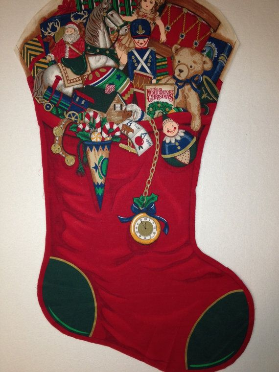 vintage extra large christmas stocking by koopskountrykalico 1200 - Large Christmas Stockings