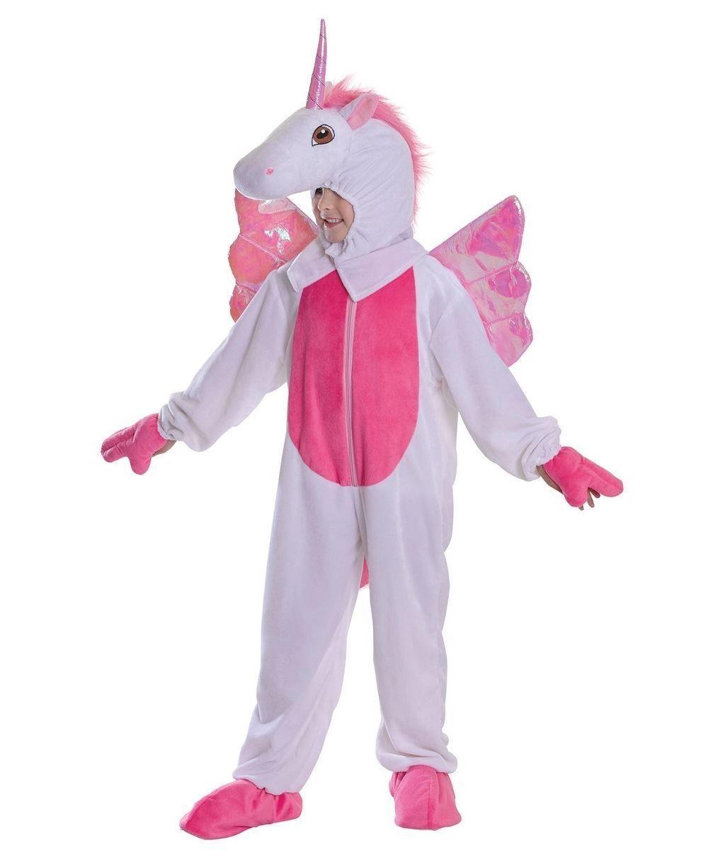 299e5890cf33 Girls Childs Unicorn Fairytale Fantasy Mascot Wings Fancy Dress Costume