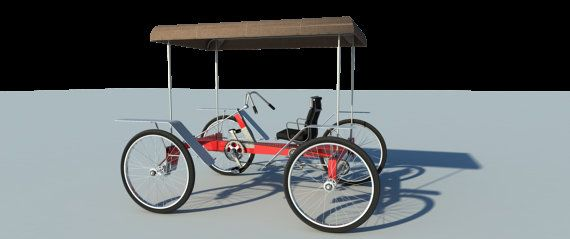e2cb0ef632f Build your own 4 wheel pedal bike car (DIY Plans) Pedicab, rickshaw ...