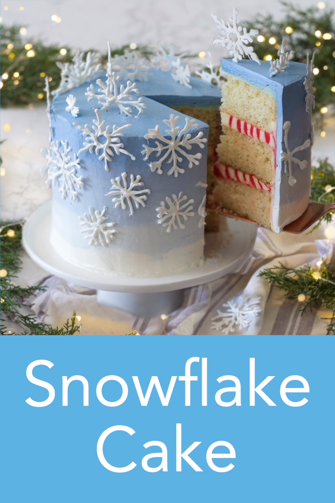 Snowflake Cake -   15 cake Art fun ideas