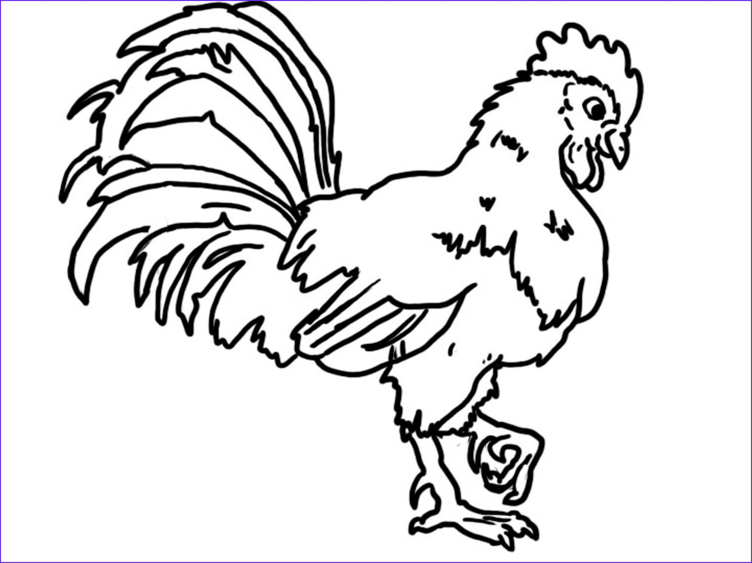 Free Rooster Farm Coloring Pages Coloringsuite Coloring Pages Farm Coloring Pages Coloring Pictures
