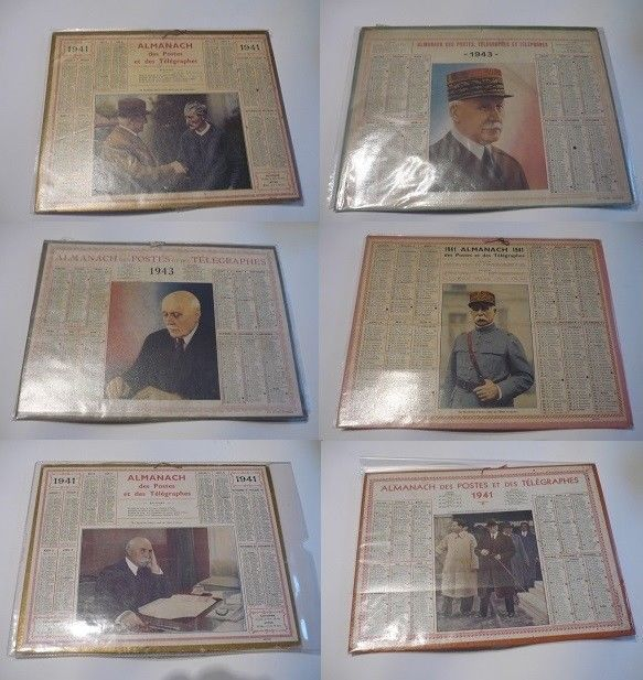 Calendrier 1941.Agenda Calendrier 1941 1943 Petain Collections