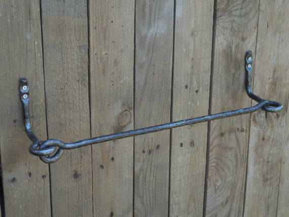 Wrought Iron Towel Bar Bathroom Accessories Hand Forged