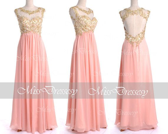Peach Prom Dresses 2014 Prom Gown Straps with Open by MissDressesy ...