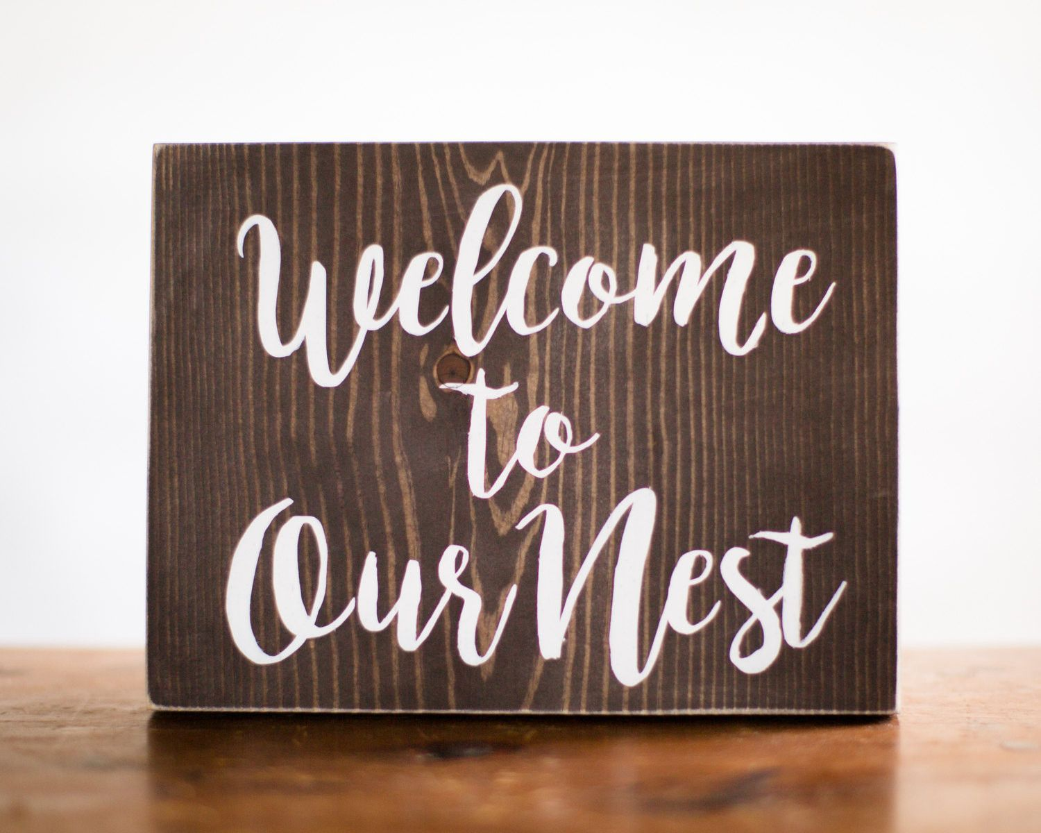 Welcome Sign Decor Unique Welcome To Our Nest Wood Sign Home Decor  Entry Decor  Welcome Design Ideas