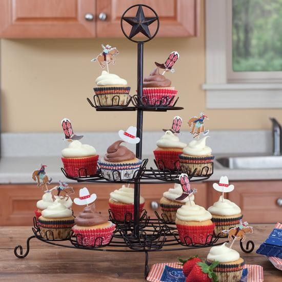 ranch star cupcake stand