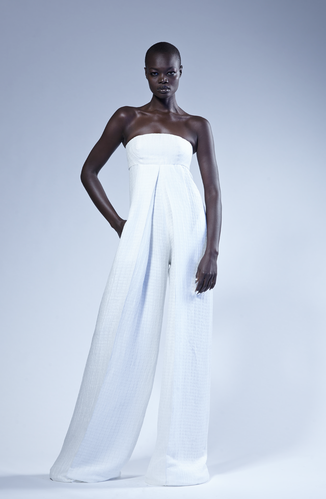 Model Aluad Anei for Greta Constantine SS 2016 #GlobalBlackModels