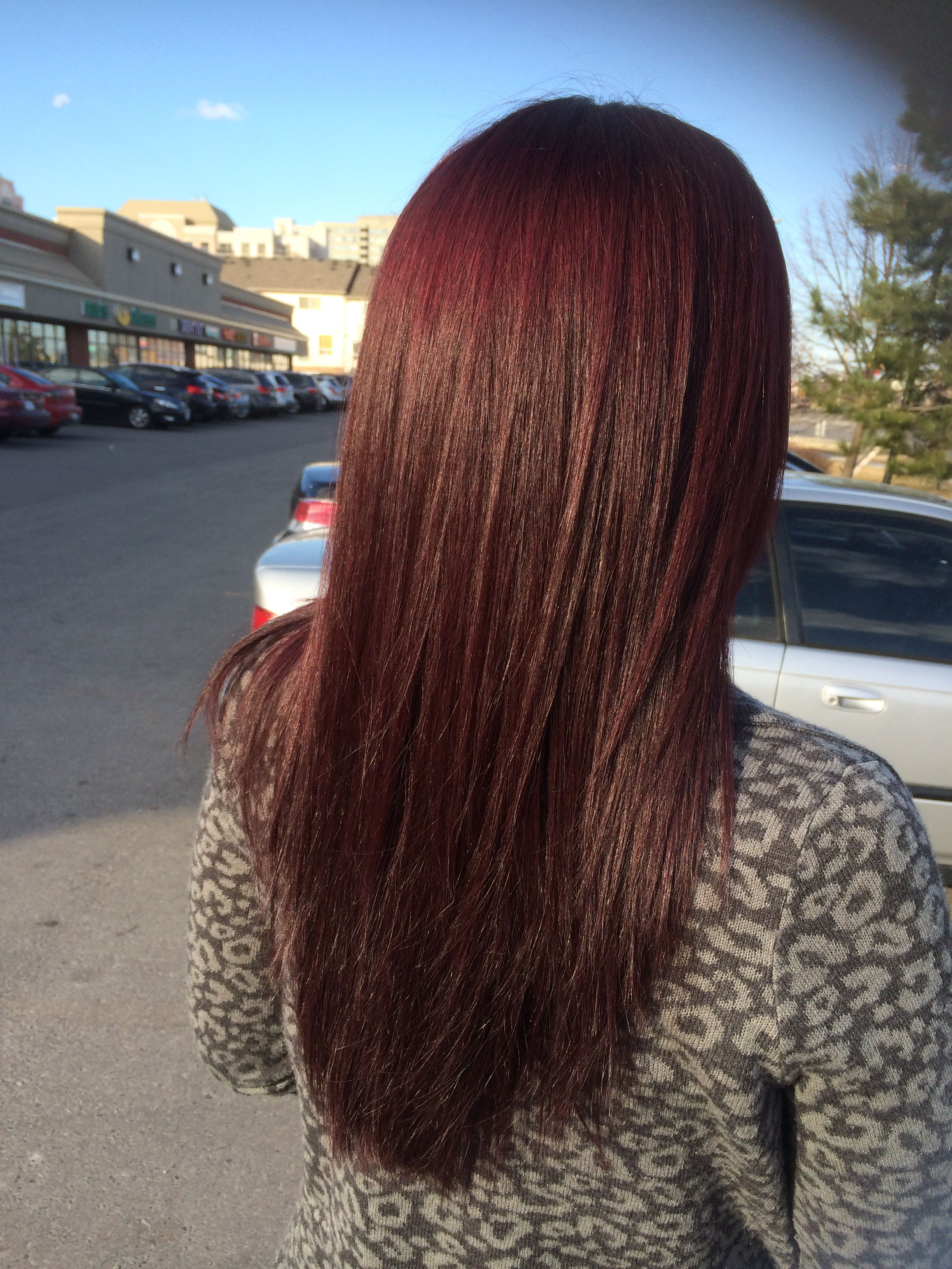 Red Mahogany Hair Color Nataliethehairstylist My Work