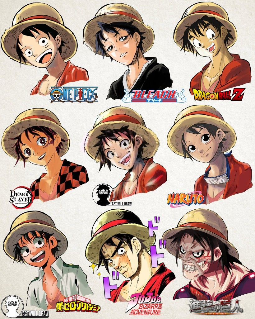 Style Of Rufy In 2020 Anime Characters Anime Drawing Styles Anime One